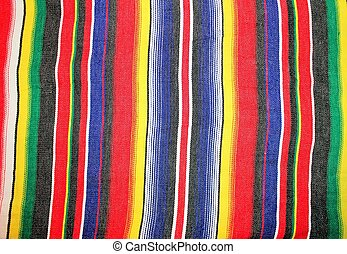 Mexico traditional cinco de mayo rug poncho fiesta with stripes