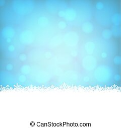 snowflakes border with shiny blue background