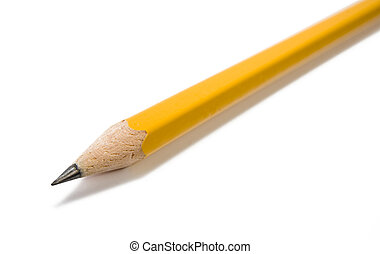 Pencil macro - Sharpened pencil isolated closeup macro