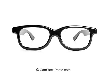 Vintage glasses isolated on a white background - Front view...