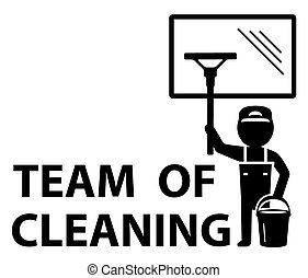 team of cleaning symbol