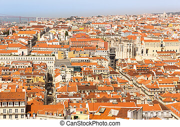 European city roofs - Wide view of the european city roofs,...