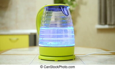 In the electric kettle water boils HD - In the electric...