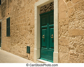 street in Maltese Mdina - traditional narrow silent street...