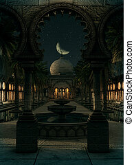 The Magic of the Orient by Night, 3d CG - 3D computer...