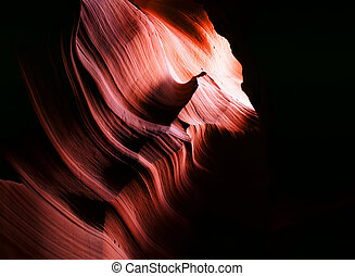 Antelope Canyon Arizona - Sunlight coming into Antelope...