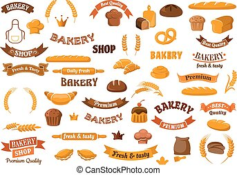 Bakery and pastry elements for design - Bakery and pastry...