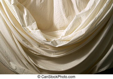 draped muslin background cloth - A neutral off white muslin...