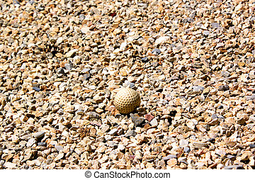 golfball - Golfball hidden in the stones