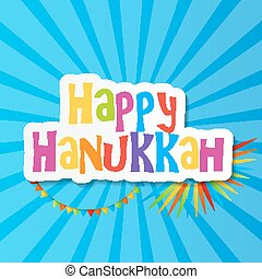Happy Hanukkah, Jewish Holiday Background. Vector...