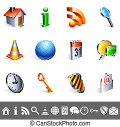 Icons collection - Set of 12 colorful icons