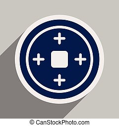 Chinese coins realistic icon on blue backgrounds