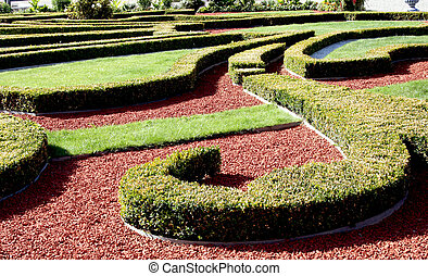 Beautiful garden in Rundale palace - Rund?le Palace is one...