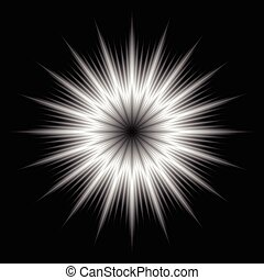 An abstract lens flare.