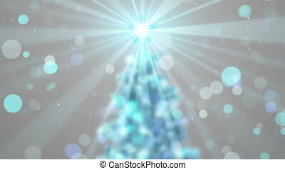 blurred christmas tree shine animation seamless loop