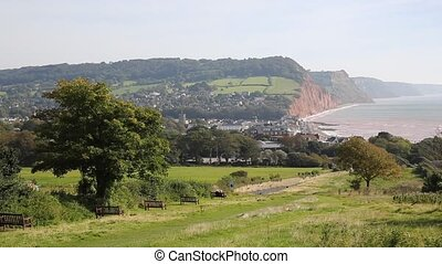 Sidmouth Devon elevated coast view - Sidmouth Devon with an...