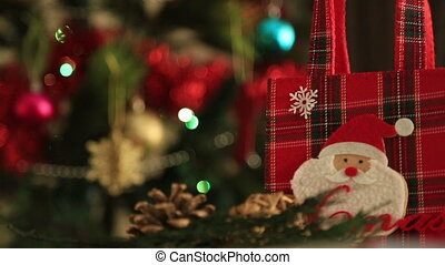 Holiday Christmas scene Gift under the Christmas tree