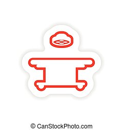 paper sticker on white background