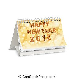 Happy new year 2016 of calendar - Illustration of Happy new...
