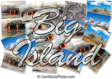 Big island Hawaii collage - Hawaii pictures collage of...