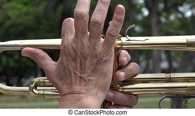 Pressing Trumpet Valves