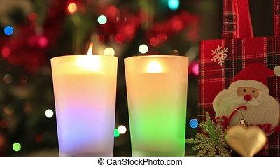 Christmas Tree and Christmas gift - Holiday Christmas scene...