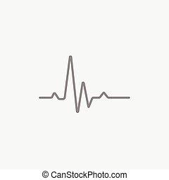 Hheart beat cardiogram line icon - Hheart beat cardiogram...