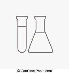 Test tubes line icon. - Test tubs line icon for web, mobile...
