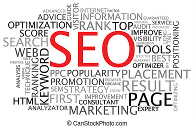 SEO - Search Engine Optimization poster - black and white