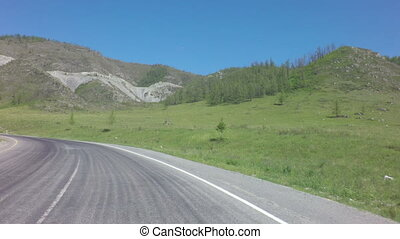 Beautiful Mountain serpentine of Chuysky Trakt - Beautiful...