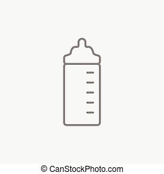Feeding bottle line icon - Feeding bottle line icon for web,...