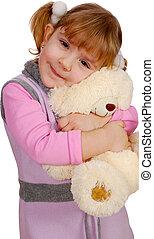 little girl with teddy-bear