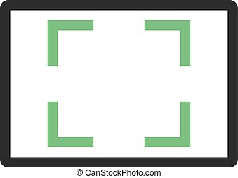Aspect Ratio - Design, aspect, ratio icon vector image. Can...