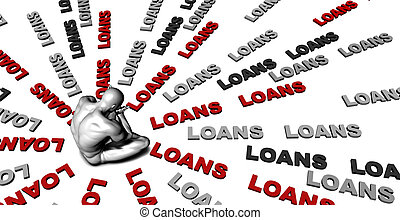 Loans - Suffering From Loans with a Victim Crying Male