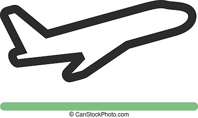 Flight Takeoff - Airplane, off, flight icon vector image.Can...