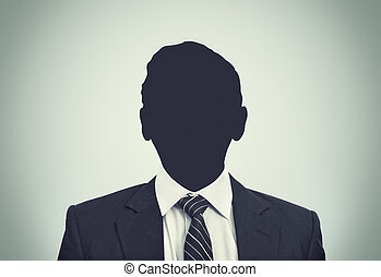 Unknown person silhouette - An unkhown person in business...