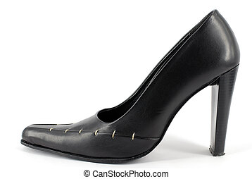 woman high heel shoe - woman elegance black high heel shoe