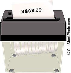 Secret document shredder