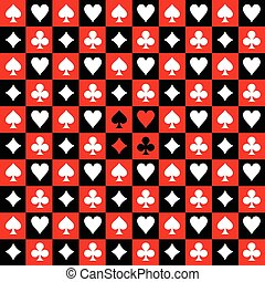 Card Suit Chess Board Red Black Background