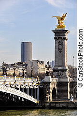 Pont Alexandre III and Montparnasse Tower in the background...