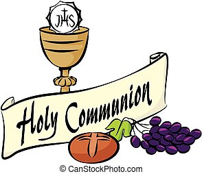 holy communion - vector equipment of first holy communion