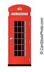 UK Telephone Box - A typical United Kingdom red telephone...