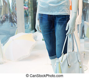 Casual clothing store - Female dummy inside a casual...