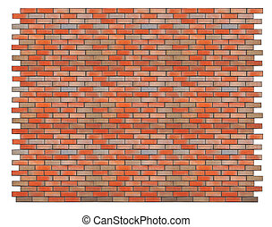 isolated red brick wall - Huge piece of the ideal isolated...