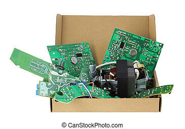 Electronics for utilization - Old electronic printed-circuit...