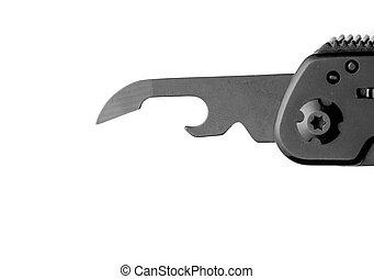 Opener on multitool knife - Black opener on multitool knife...