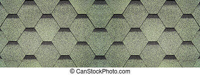 Rubber tile roof background - Textured grained green line of...