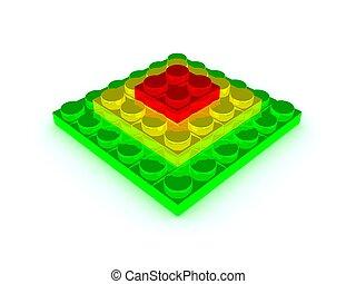 lego-pyramid. 3d