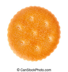 Cracker - One healthy cracker isolated on white background