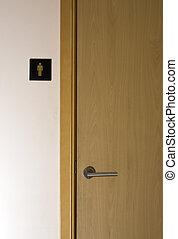 Public toilet - Door to man's toilet